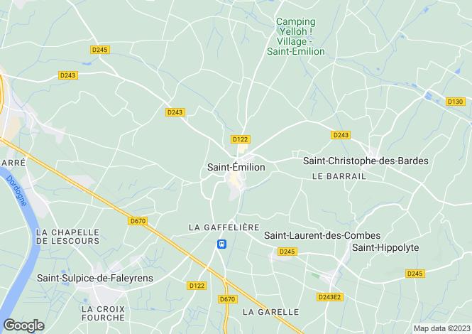 Map for Secteur: St Emilion, Gironde