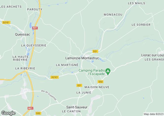 Map for Secteur: Bergerac, Dordogne