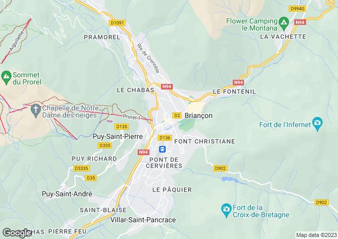 Map for Le Clos du Soleil, Briancon