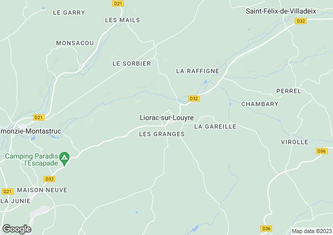 Map for Liorac-Sur-Louyre, Aquitaine, 24520, France