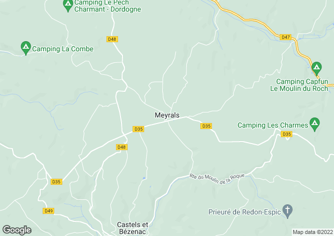 Map for meyrals, Dordogne, France