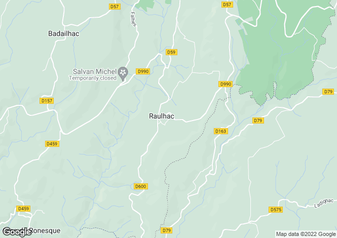 Map for Auvergne, Cantal, Raulhac