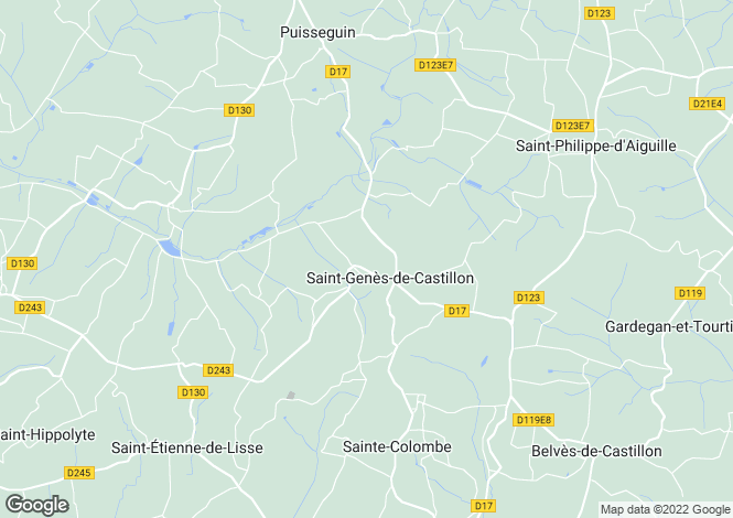 Map for st-genes-de-castillon, Gironde, France