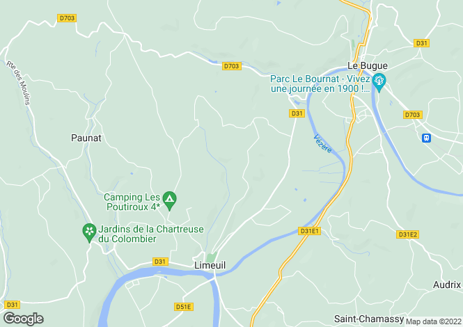 Map for Le Bugue, Dordogne, Aquitaine