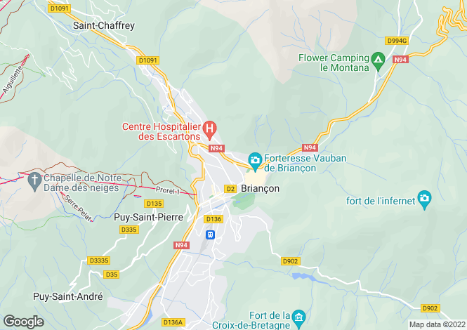Map for briancon, Hautes-Alpes, France