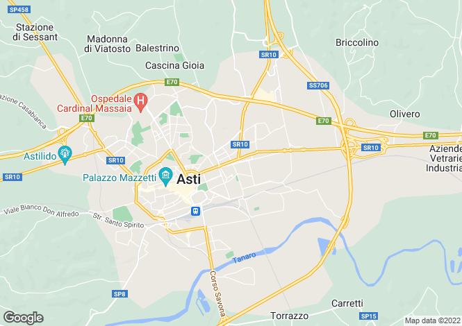 Map for Asti, Asti, Piedmont