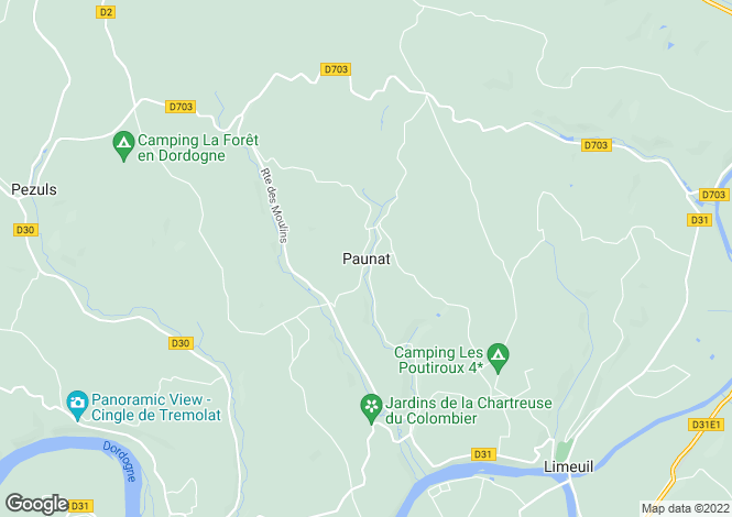 Map for Secteur: Limeuil, Dordogne