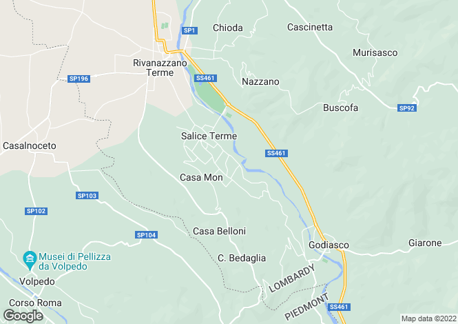 Map for Salice Terme, Pavia, Italy