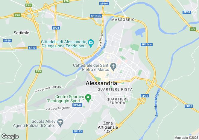 Map for Alessandria, Alessandria, Piedmont