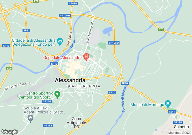Map for Alessandria, Alessandria, Piedmont