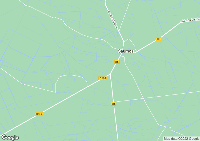 Map for saumos, Gironde, France