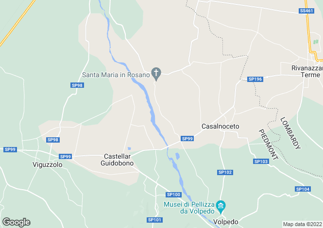 Map for Piedmont, Alessandria