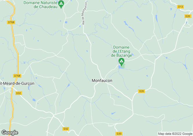 Map for monfaucon, Dordogne, France