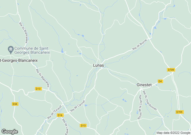 Map for lunas, Dordogne, France