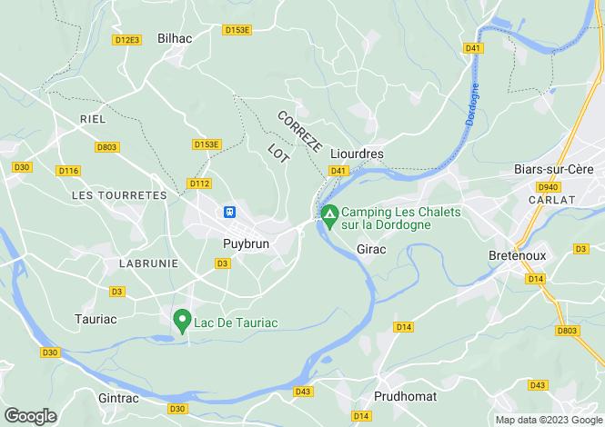 Map for Midi-Pyrénées, Lot, Puybrun