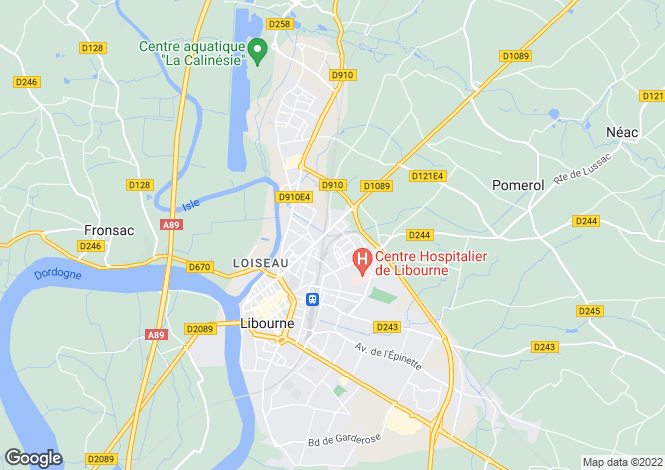 Map for Libourne, 33240, France