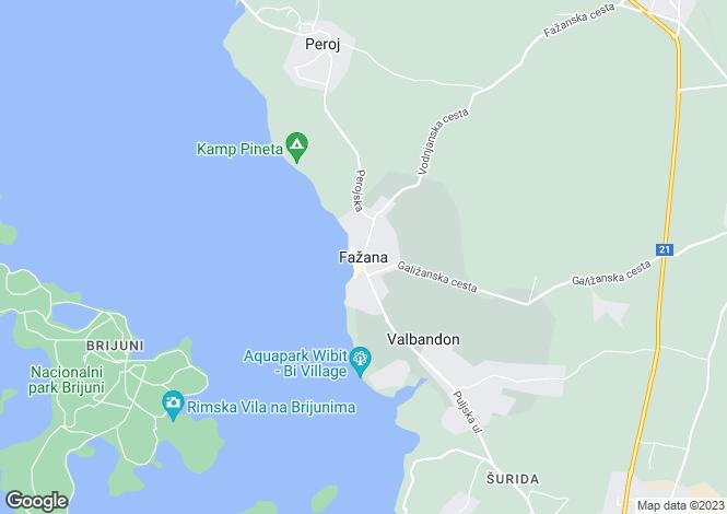 Map for Istra, Fazana, Croatia