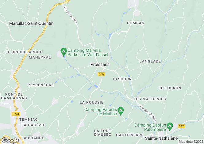 Map for Proissans, Dordogne, Aquitaine