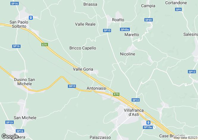 Map for Piedmont, Asti, Villafranca d`Asti