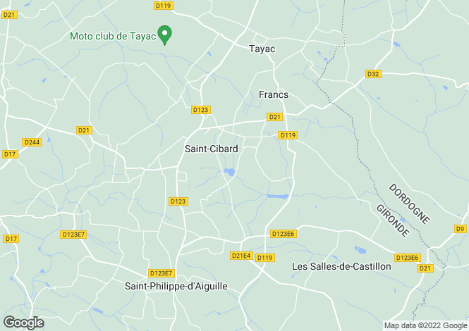 Map for st-cibard, Gironde, France