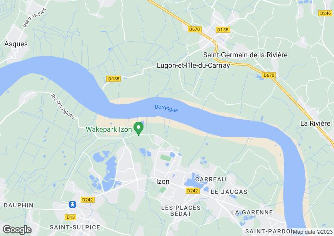 Map for izon, Gironde, France