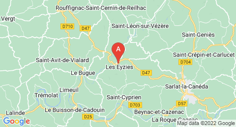 map of Font-de-Gaume (France)