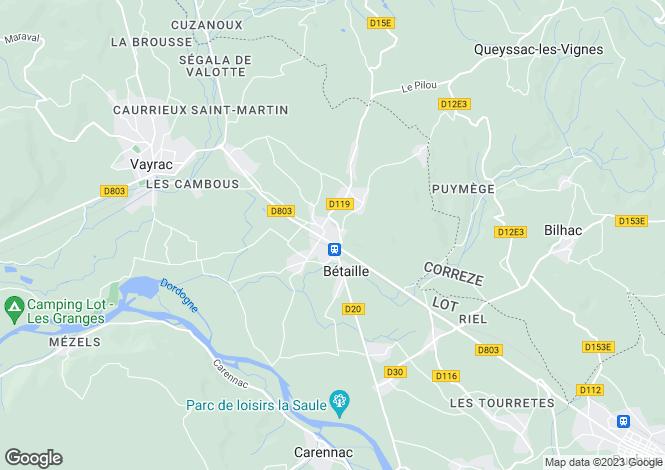 Map for Bétaille, Lot, Midi-Pyrénées