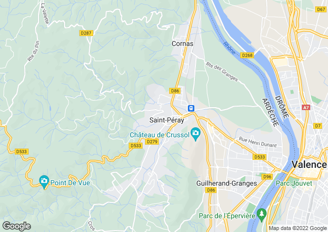 Map for st-peray, Ardèche, France