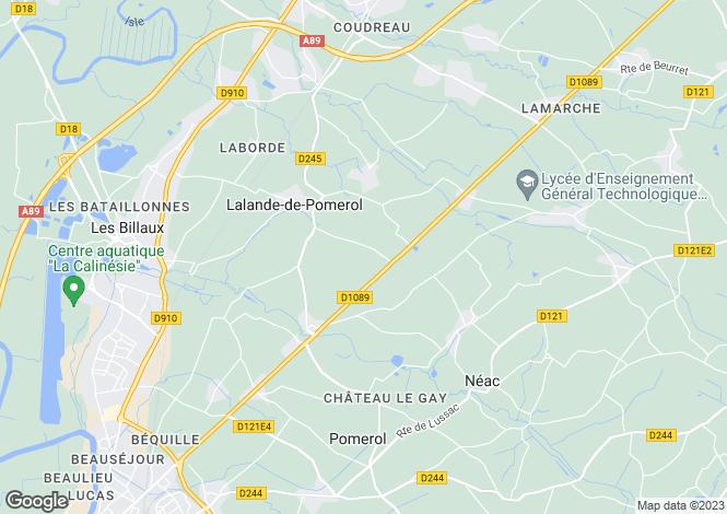 Map for Lalande-de-Pomerol, , France