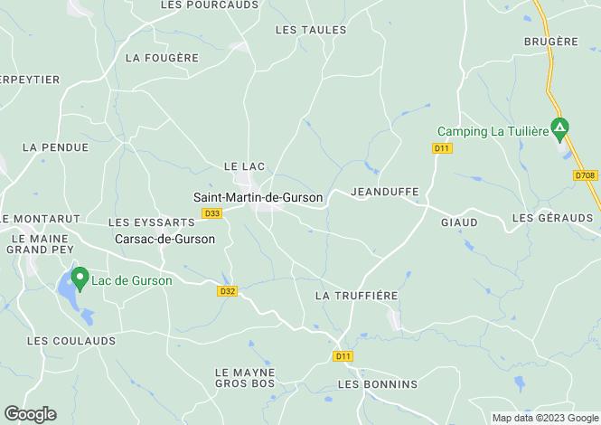 Map for st-martin-de-gurcon, Dordogne, France