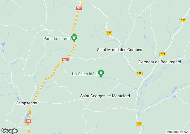 Map for st-martin-des-combes, Dordogne, France