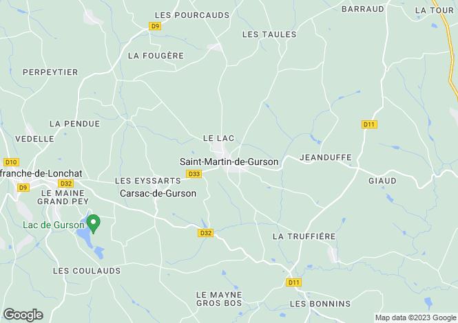 Map for Secteur: Villefranche-de-Lonchat, Dordogne