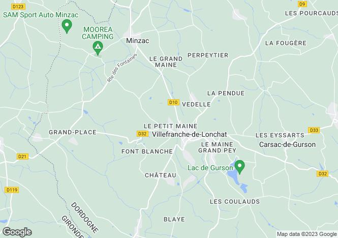 Map for Aquitaine, Dordogne, Villefranche-de-Lonchat