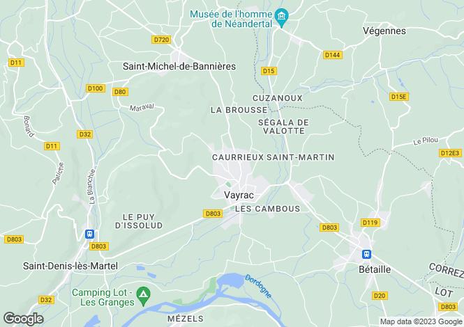 Map for Vayrac, Lot, Midi-Pyrénées