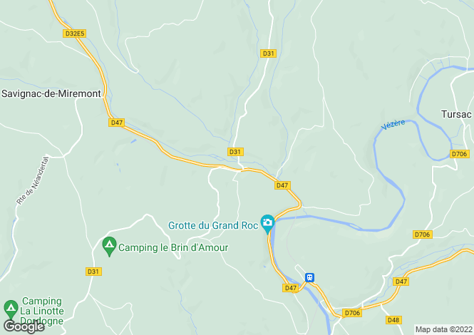 Map for manaurie, Dordogne, France