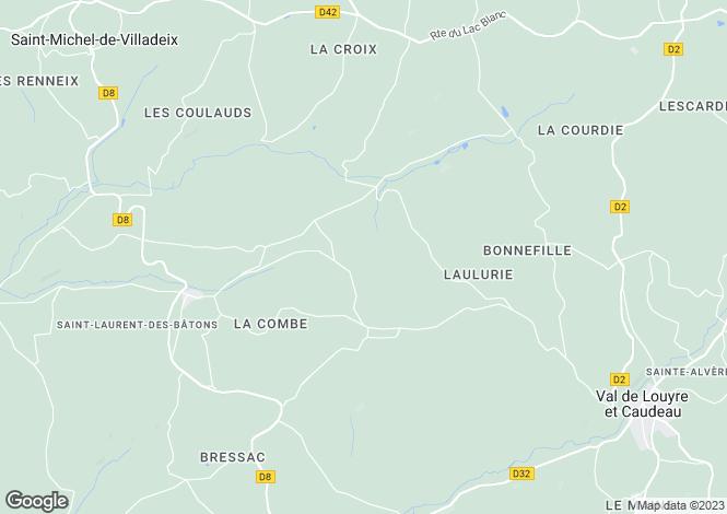 Map for Ste-Alvère, Dordogne, Aquitaine