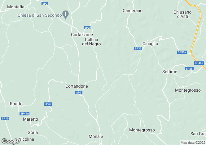Map for Piedmont, Asti, Villanova d`Asti