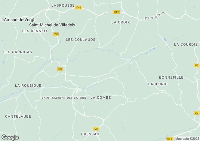 Map for Aquitaine, Dordogne, Saint-Laurent-des-Bâtons