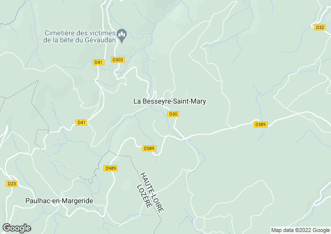 Map for Auvergne, Haute-Loire, La Besseyre-Saint-Mary