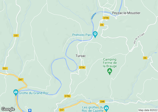 Map for tursac, Dordogne, France