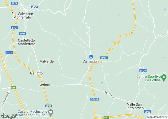 Map for Piedmont, Alessandria, Alessandria