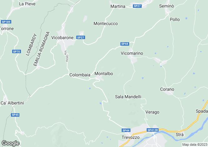 Map for Emilia-Romagna, Piacenza