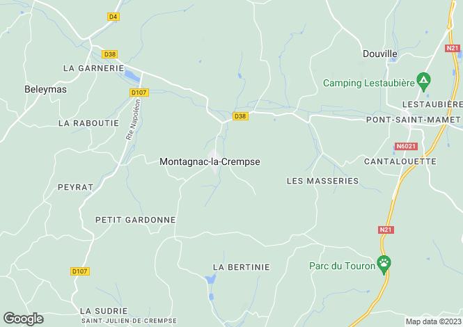 Map for montagnac-la-crempse, Dordogne, France