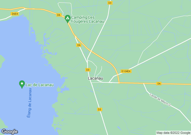 Map for lacanau, Gironde, France