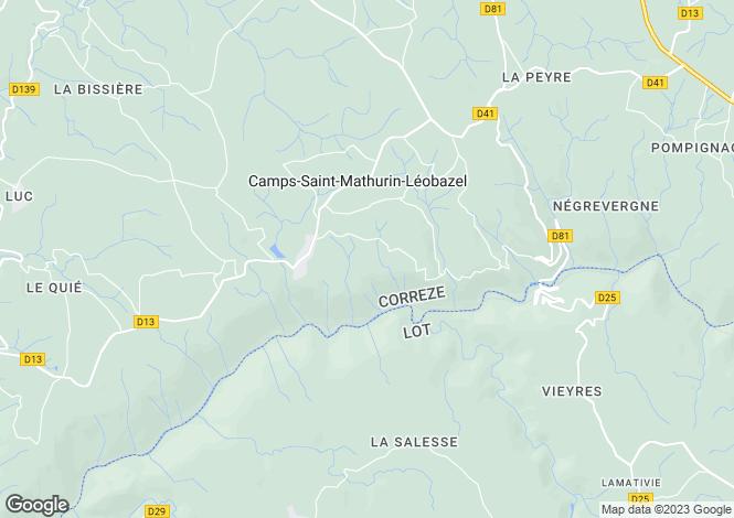 Map for Camps-Saint-Mathurin-Léobazel, 19430, France