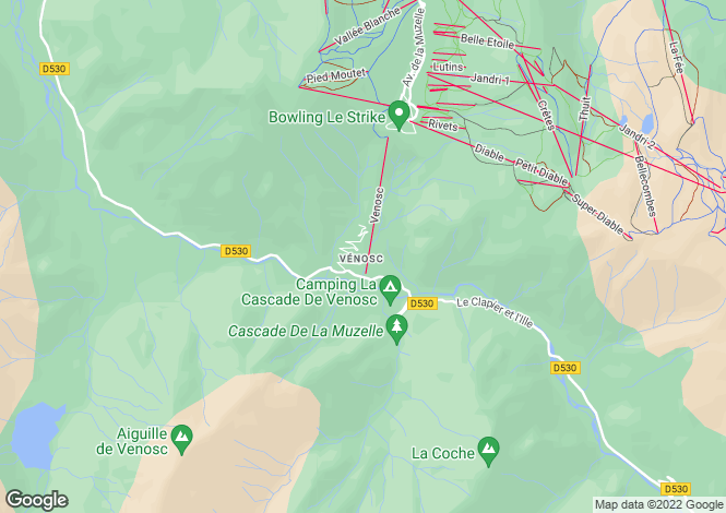 Map for , Isère, France