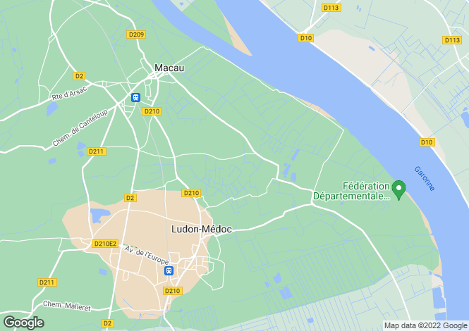 Map for ludon-medoc, Gironde, France