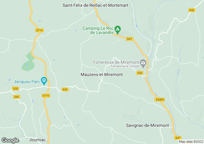 Map for Aquitaine, Dordogne, Mauzens-et-Miremont