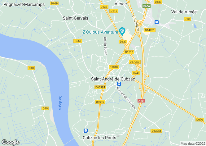 Map for st-andre-de-cubzac, Gironde, France