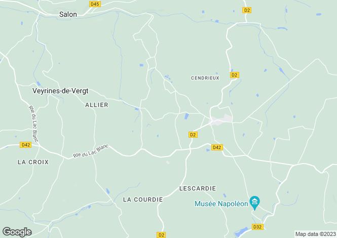 Map for cendrieux, Dordogne, France